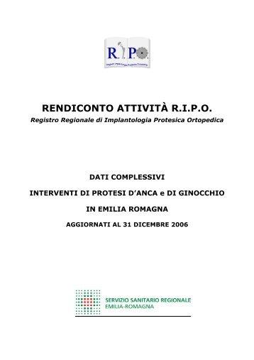 Report annuale 2006 Regione Emilia - RIPO - Cineca