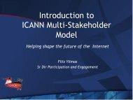 Introduction to ICANN Multi-Stakeholder Model - Toronto - icann
