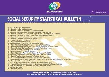 SOCIAL SECURITY STATISTICAL BULLETIN - Ministério da ...