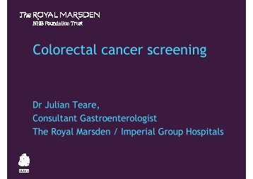 Julian Teare - The Royal Marsden