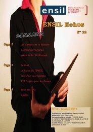 ENSIL Echos Page 2 - Université de Limoges