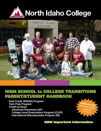 HIGH SCHOOL to COLLEGE TRANSITIONS PARENT/STUDENT ...