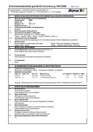 Sicherheitsdatenblatt gemäß EU-Verordnung 1907/2006