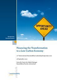 Financing the Transformation to a Low-Carbon Economy
