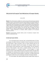 Why Do We Feel European? Social Mechanisms of European Identity