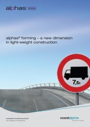 alphas® forming – a new dimension in light-weight ... - voestalpine