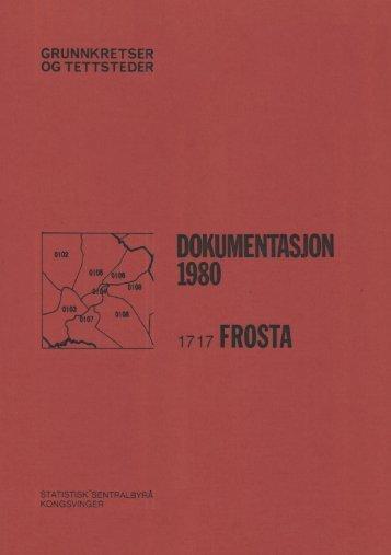 Folke- og boligtellingen 1980 Frosta ... - Statistisk sentralbyrå
