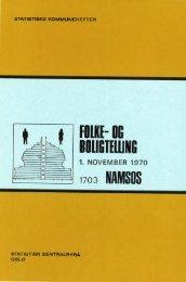 Folke- og boligtelling 1. November 1970. 1703 Namsos