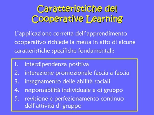 Cooperative Learning - USP di Piacenza