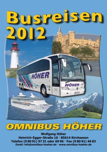 Sommer-Prospekt (ca. 2 MB) - Omnibus Wolfgang Höher