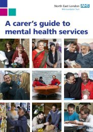 A carer's guide to mental health services - North East London NHS ...