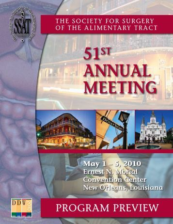 51st AnnuAl Meeting - Society for Surgery of the Alimentary Tract