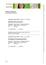 Offene Seminare - HaraldKriegbaum.de