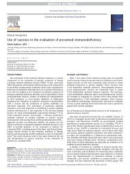 Use of vaccines in the evaluation of presumed ... - AInotes