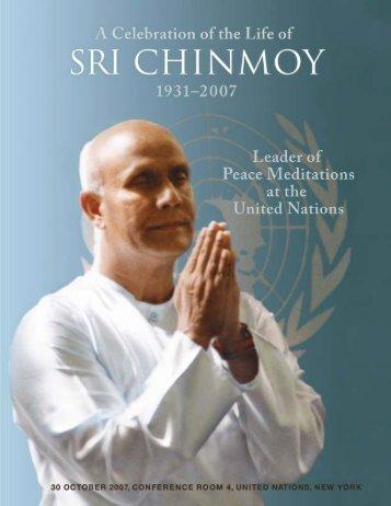 Secretary-General 1997–2006 - Sri Chinmoy