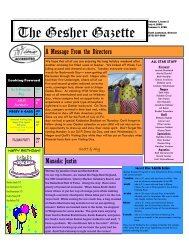 Issue 2 - July 4, 2008 - Gesher Summer Camp