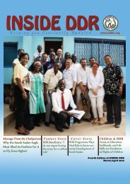 March_April 2012 - Republic of South Sudan DDR Commission
