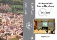 undergrad cover_19September2011.indd - University of Oxford ...