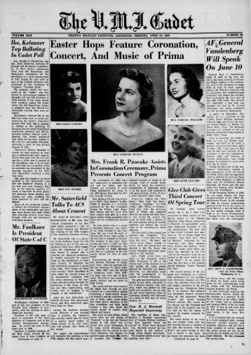 The Cadet. VMI Newspaper. April 28, 1952 - New Page 1 [www2.vmi ...