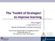 'Toolkit of Strategies' to improve learning - Catch Up