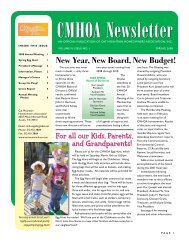 CMHOA Newsletter - Cat Mountain Villas Homeowners Association