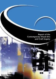 Report of the Contemporary Visual Arts and Craft ... - Office for the Arts