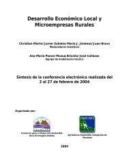 Desarrollo Económico Local y Microempresas Rurales - Asocam.net