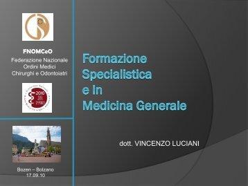 Relazione del Dott. Luciani - Ordinemedici.bz.it