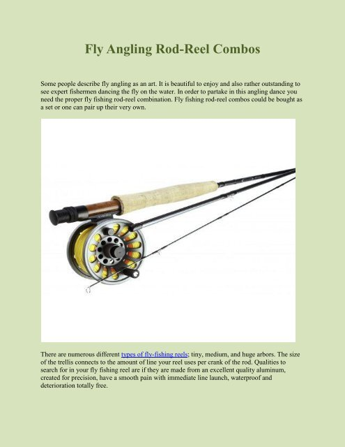 Fly Angling Rod Reel Combos