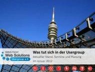 Herzlich Willkommen - Opentext Usergroup