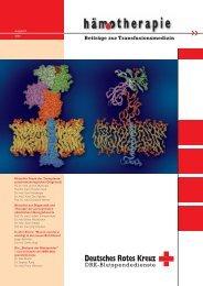 Editorial 8/2006 - Hämotherapie