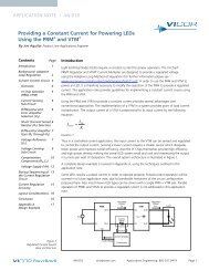 Providing a Constant Current for Powering LEDs using the ... - Vicor
