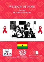 Window of Hope Revised Trainee Manual - World Education Ghana