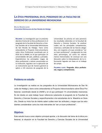Problema en estudio Objetivos - Consejo Mexicano de Investigación ...