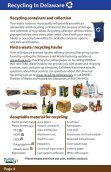 A Guide To Recycling In Delaware - Delaware Department of ... - Page 4