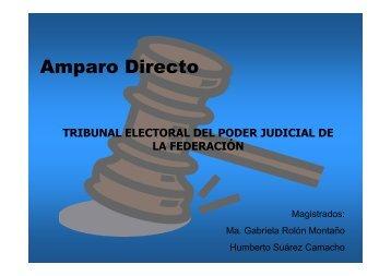 Amparo directo - Tribunal Electoral del Poder Judicial de la ...