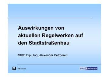 Auswirkungen von aktuellen Regelwerken auf den ... - VSVI-NRW