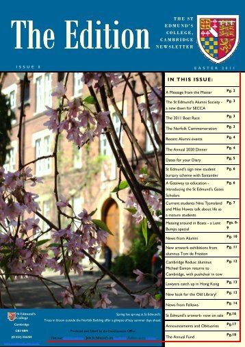 The Edition - Easter 2011 - St Edmund's College - University of ...