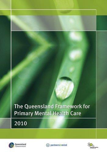 Queensland Framework for Primary Mental Health Care - General ...