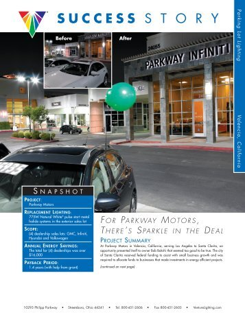 Parkway Motors in Valencia, CA - Venture Lighting