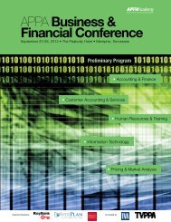 APPA Business & Financial Conference - American Public Power ...