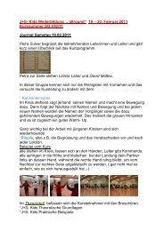 """J+S- Kids Weiterbildung """" allround"""" 19. - 20. Februar 2011 ..."""