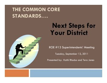 Next Steps for Your School - ROE #13