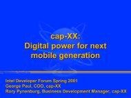 Fall 2001 (PDF, 0.2MB) - Cap-XX