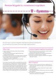 Rendszer-felügyeleti és -menedzsment megoldások - T-Systems