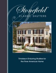 Timeless & Enduring Shutters for the Finer American Home