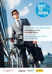 Une action de: Soutenu par: - Bike to work