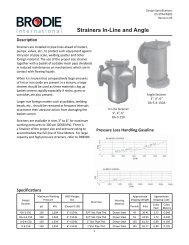 Strainers In-Line and Angle Speification Sheet