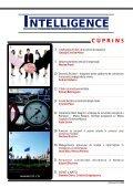 INTELLIGENCE INTELLIGENCE - Serviciul Român de Informaţii - Page 3