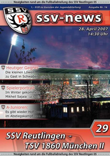 Regionalliga Süd - SSV-News.de